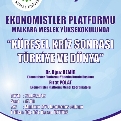 Ekonomistler Platformu Malkara Meslek Yüksekokulu'nda..