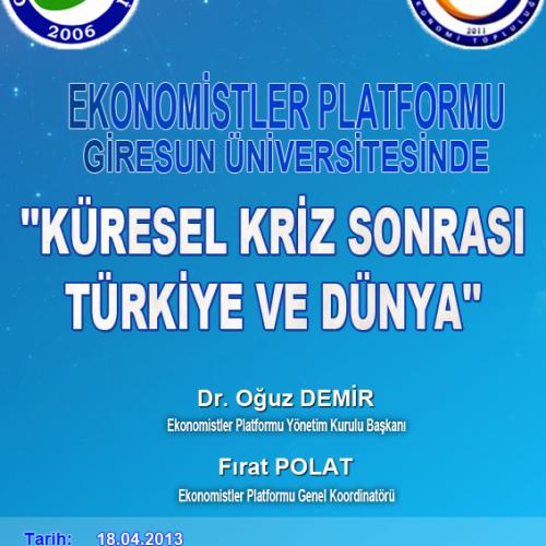 Ekonomistler Platformu, Ekosohbetler Kapsamında Giresun'da..