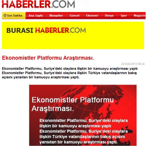Haberler.com – Ekonomistler Platformu Araştırması
