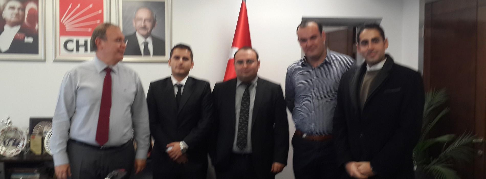 Ekonomistler Platformu; CHP Genel Başkan Yardımcısı Faik Öztrak'ı makamında ziyaret etti.