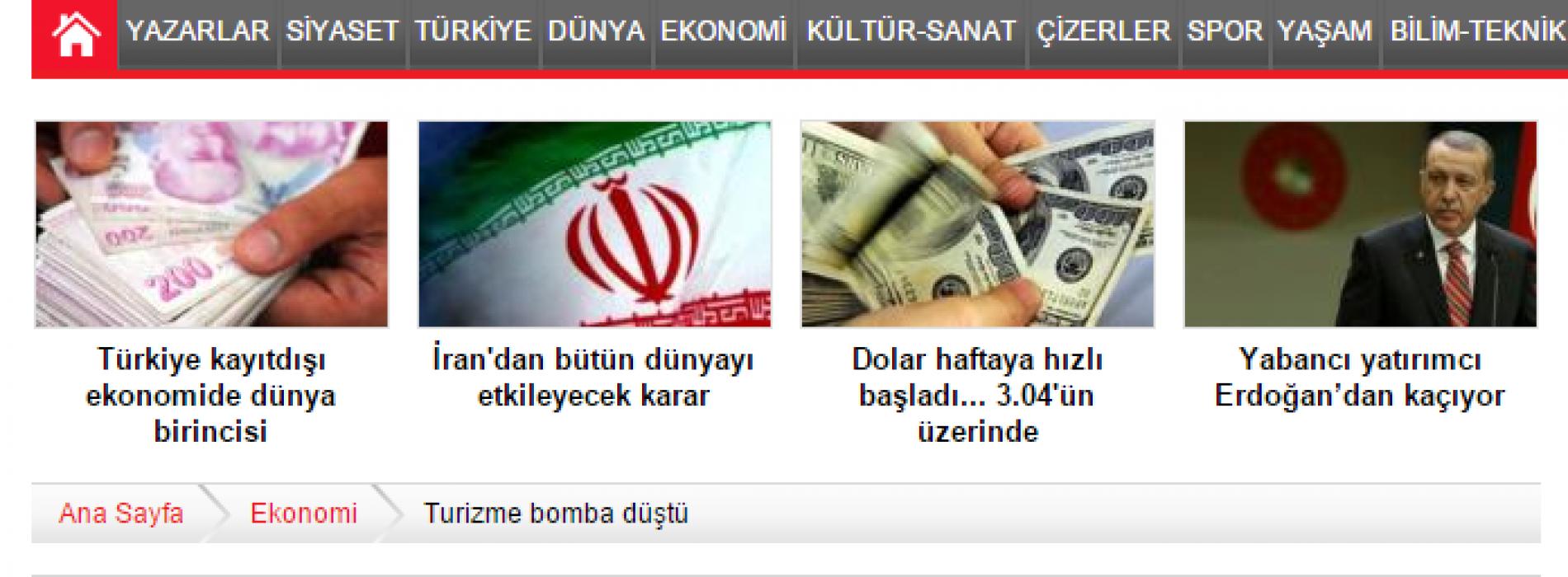 Cumhuriyet: Turizme Bomba Düştü