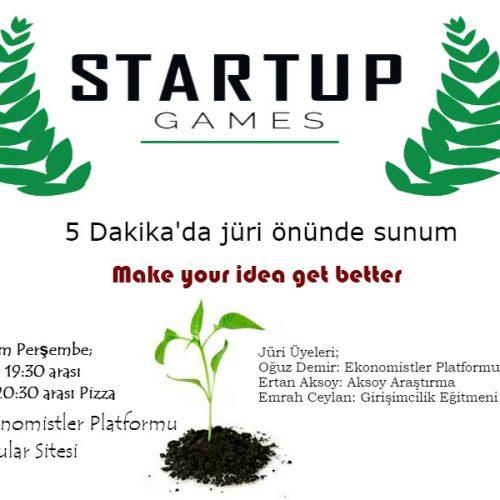 Startup Games Başlıyor!