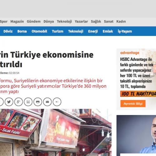 Habertürk: 'Türkiye'deki Suriyeli Yatırımcılar'