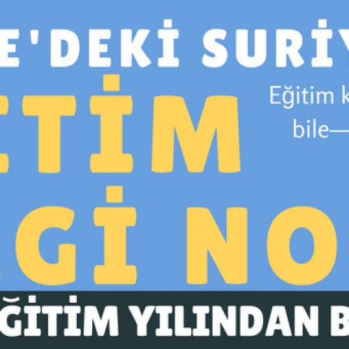 Türkiye'deki Suriyeliler: Eğitim Bilgi Notu