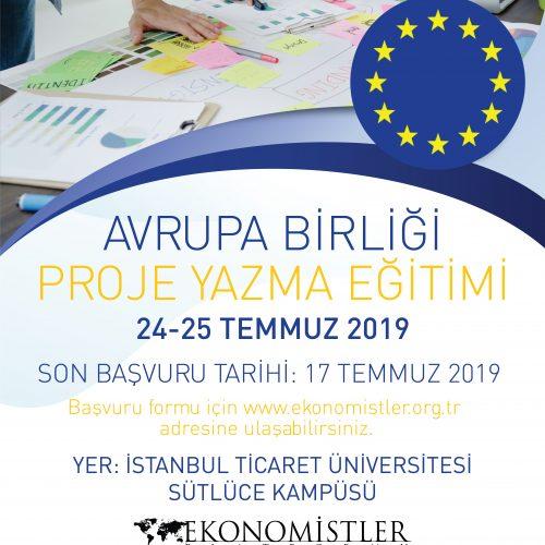 Avrupa Birliği Proje Yazma Eğitimi | 24-25 Temmuz 2019