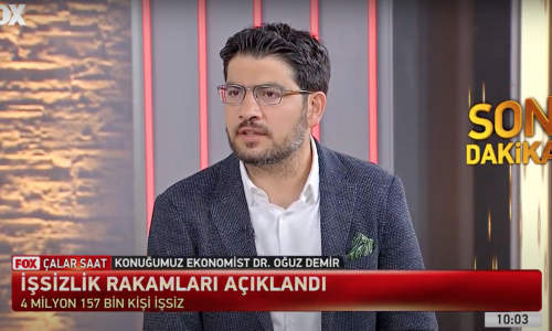 Dr. Oğuz Demir, Fox TV İlker Karagöz'le Çalar Saat programında işsizlik rakamlarını yorumladı